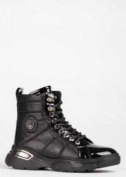 Черные ботинки Lab Milano на шнуровке, фото