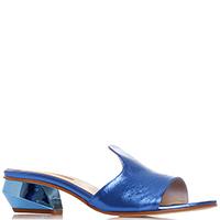 Синие мюли Nila&Nila с металлическим блеском, фото