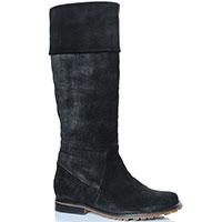 Замшевые сапоги Griff Italia черного цвета на меху, фото