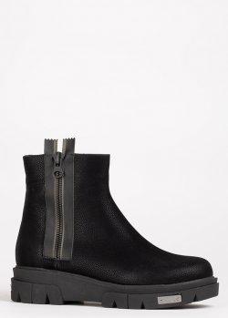 Утепленные ботинки Lab Milano из черной замши, фото