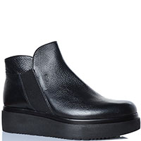 Ботинки Repo из кожи черного цвета на платформе, фото