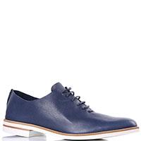 Туфли-оксфорды Griff Italia синего цвета на белой подошве, фото