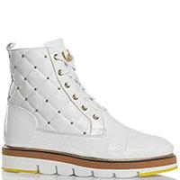 Стеганые ботинки Lab Milano белого цвета, фото