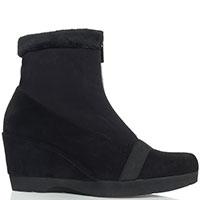 Утепленные ботинки Thierry Rabotin из замши черного цвета, фото