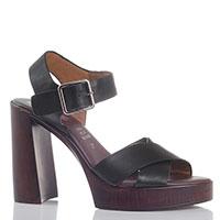 Черные босоножки Repo на толстом каблуке, фото