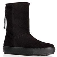 Зимние замшевые ботинки Repo черного цвета, фото