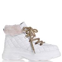 Стеганые ботинки Nila&Nila с золотистыми шнурками, фото
