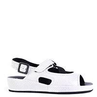 Белые сандалии Thierry Rabotin с тиснением под рептилию, фото