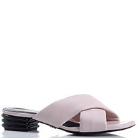 Мюли Gianni Renzi Renzi розового цвета с волнистым каблуком, фото
