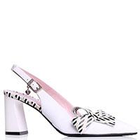 Белые туфли Ilasio Renzoni с бантами на носках, фото