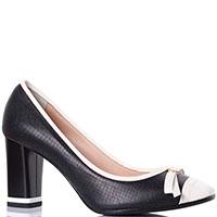 Черные перфорированные туфли Griff Italia с белым носочком, фото