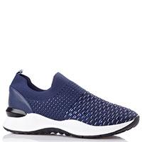 Синие кроссовки Francesco Valeri из текстиля, фото