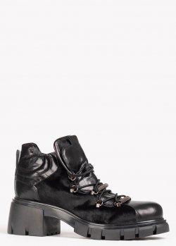 Черные ботинки Fru.It на массивной подошве, фото