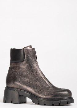 Серебристые ботинки Fru.It с мехом, фото