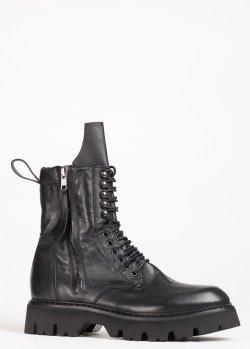 Ботинки Fru.It из черной кожи, фото