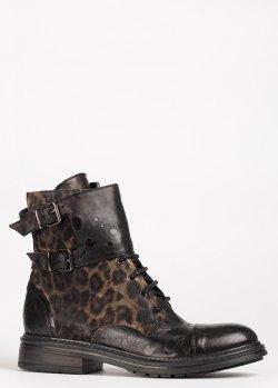 Черные ботинки Fru.It с животным принтом, фото