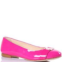 Балетки Griff Italia с круглым носочком ярко-розового цвета, фото
