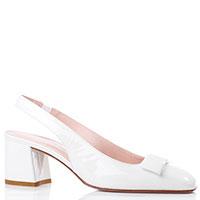 Туфли-слингбэки Norma J.Baker белого цвета, фото