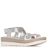 Серебристые сандалии Repo на толстой подошве, фото