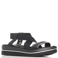 Черные сандалии Repo на эластичном ремешке, фото