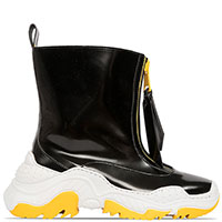 Ботинки N21 черные на толстой подошве, фото