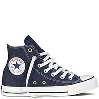 Синие высокие кеды Converse Chuck Taylor с белой подошвой и шнуровкой, фото