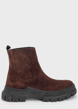 Замшевые ботинки Max Mara Weekend коричневого цвета, фото