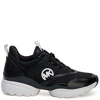 Черные кроссовки Michael Kors на белой подошве, фото
