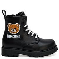 Черные ботинки Love Moschino с мишкой, фото