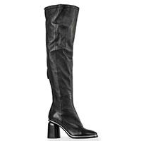 Черные ботфорты Halmanera на устойчивом каблуке, фото