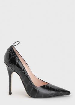 Туфли-лодочки N21 с тиснением под рептилию, фото