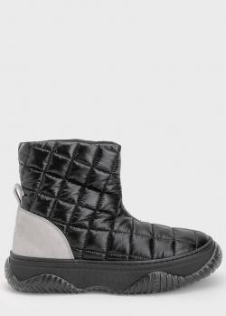 Стеганые ботинки N21 на массивной подошве, фото