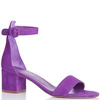 Замшевые босоножки Bianca Di фиолетового цвета, фото