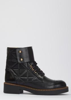 Стеганые ботинки Helena Soretti из натуральной кожи, фото