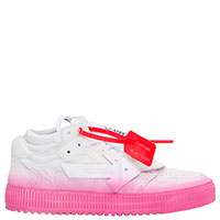 Кроссовки Off-White Low Sneakers с розовой подошвой, фото