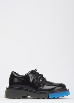 Кожаные лоферы Off-White черного цвета, фото