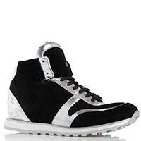 Высокие кроссовки P.A.R.O.S.H. черные с серебристым, фото