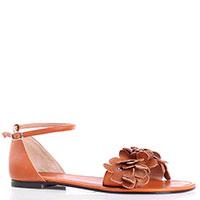 Коричневые кожаные сандалии P.A.R.O.S.H., фото