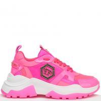 Розовые кроссовки Philipp Plein с декором, фото