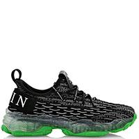 Черные кроссовки Philipp Plein Active на прозрачной подошве, фото