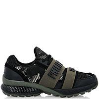 Черные кроссовки Philipp Plein Active с контрастными вставками, фото