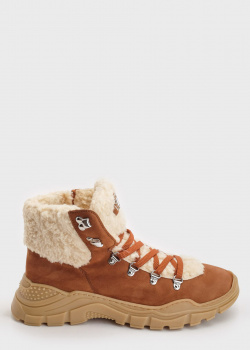 Замшевые ботинки Philipp Plein коричневого цвета, фото