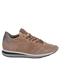 Замшевые кроссовки Philippe Model бежевого цвета, фото
