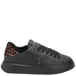 Черные кроссовки Philippe Model из гладкой кожи, фото