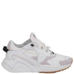 Белые кроссовки Philippe Model с сетчатой вставкой, фото