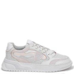 Белые кроссовки Philippe Model с эффектом кракелюр, фото