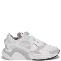 Утепленные кроссовки Philippe Model белого цвета, фото