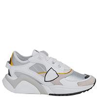 Белые кроссовки Philippe Model на толстой подошве, фото