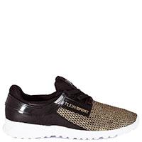 Золотисто-черные кроссовки Philipp Plein Jennifer из текстиля, фото