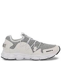 Белые кроссовки Philipp Plein Stealth с серыми вставками, фото